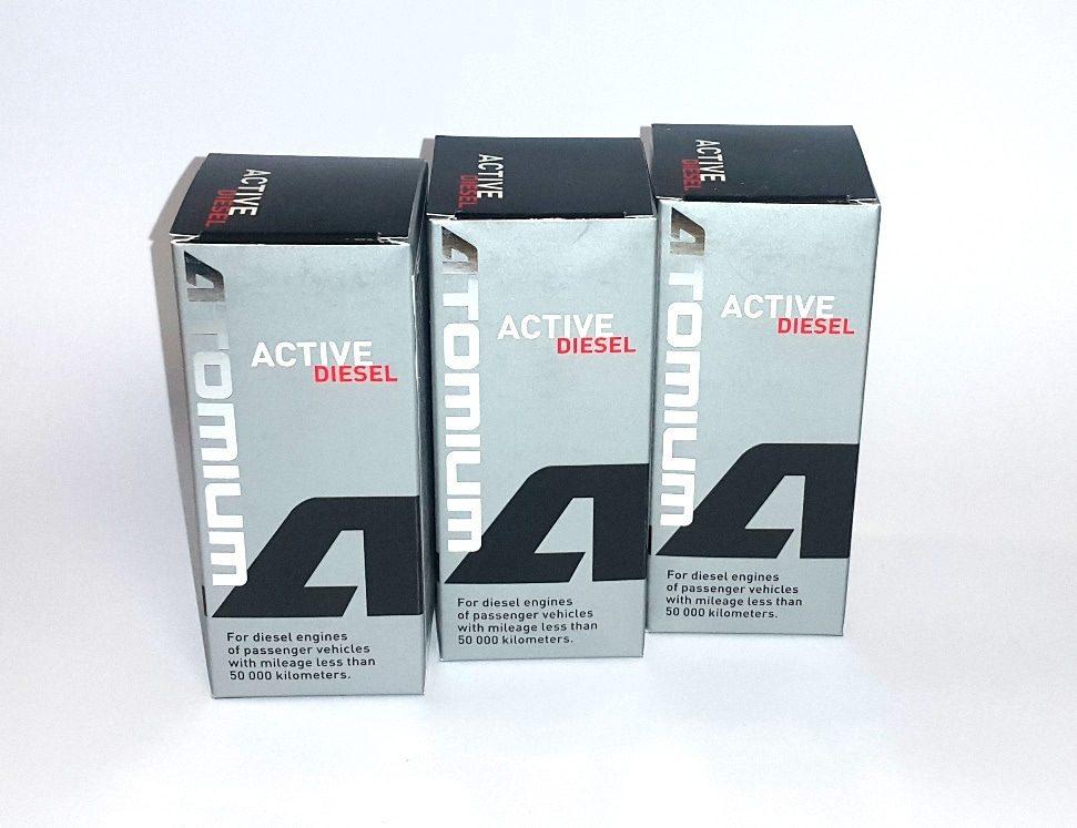 3x ATOMIUM Active Diesel 90 ml + ZDARMA ATOMIUM Active Regular 100 ml